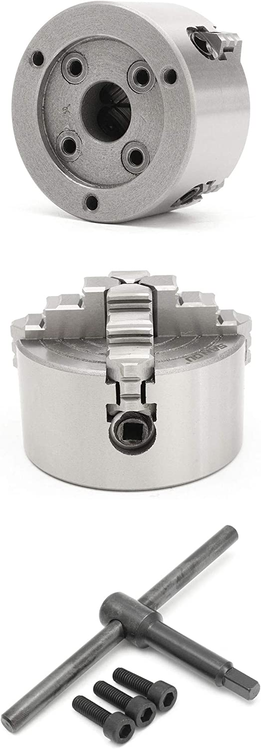 K72 125mm 4 Jaws Lathe Chuck Independent Hardened Reversible Turning Machine Tools Accessories