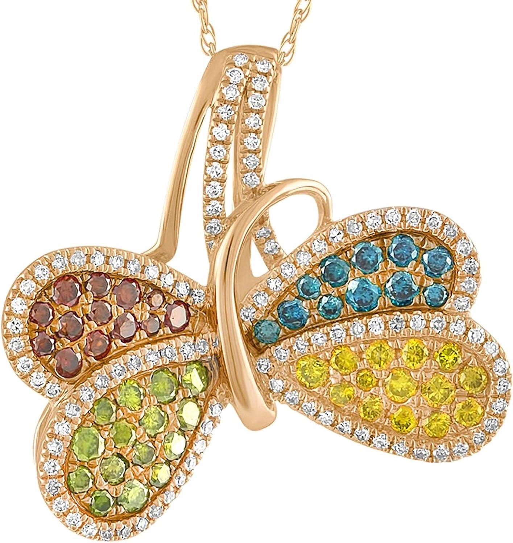 Prism Jewel 0.15 Carat Round Multi Color Diamond Stackable Band
