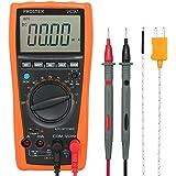 Proster Multimetro Digitale 3999 Conti 3 3/4 Auto Ranging Misuratore Tester per DC/AC Tensione Corrente Capacità Resistenza Trasistore Diodo Continuità con LCD Retroilluminato