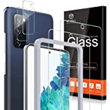 [2+2 Pack] MP-MALL 2 Pack Tempered Glass Screen Protector + 2 Pack Camera Lens Protector Compatible for Samsung Galaxy S20 FE
