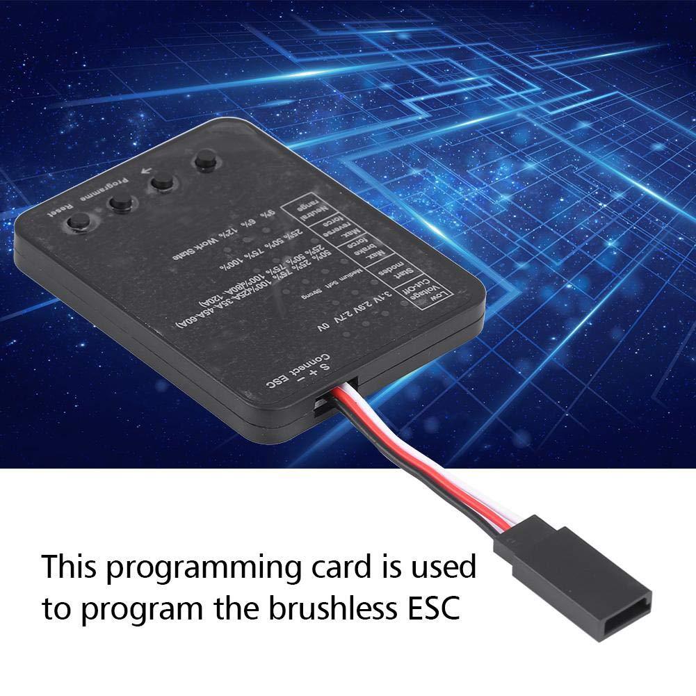 RC-Programmierkarte f/ür Brushless ESC-RC-DIY-Teil elektronisches Ersatzteilzubeh/ör Dilwe LED-Programmierkarte
