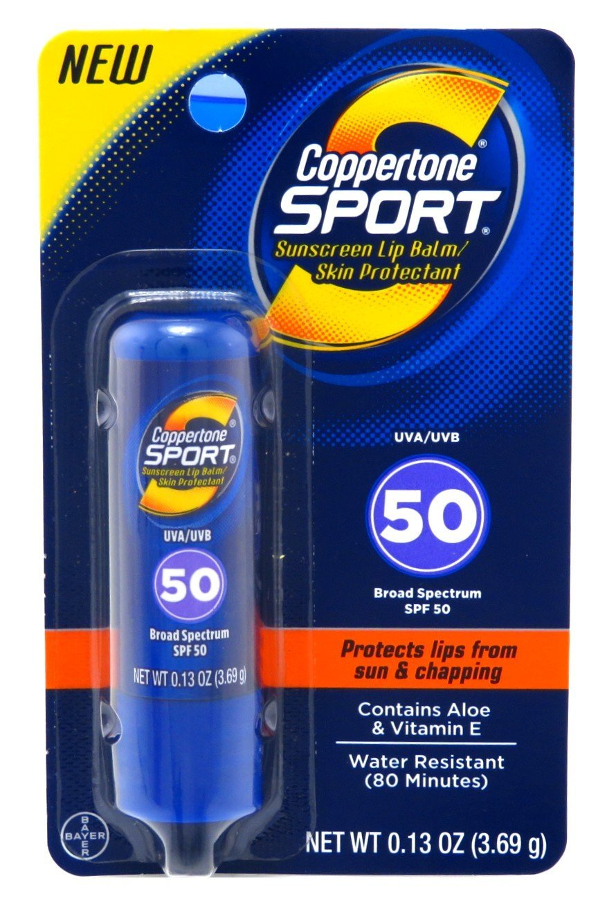 Coppertone Spf#50 Sport Lip Balm 0.13 Ounce (3ml) (2 Pack)