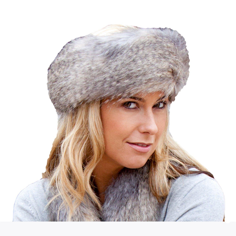 46aaa613e Faux Fur Headband - Wolf Grey