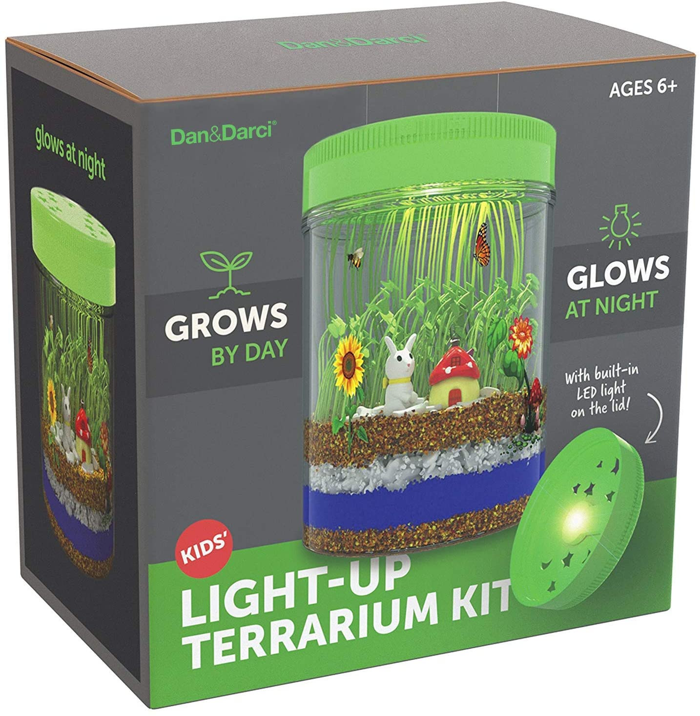 Creativity Toys For Kids Grow And Glow Terrarium Science Kit Learning Playset
