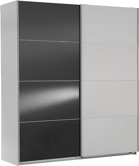 Wimex 507062 Armario de Puertas correderas 135 x 210 x 65 cm, Cristal, Color Gris: Amazon.es: Hogar