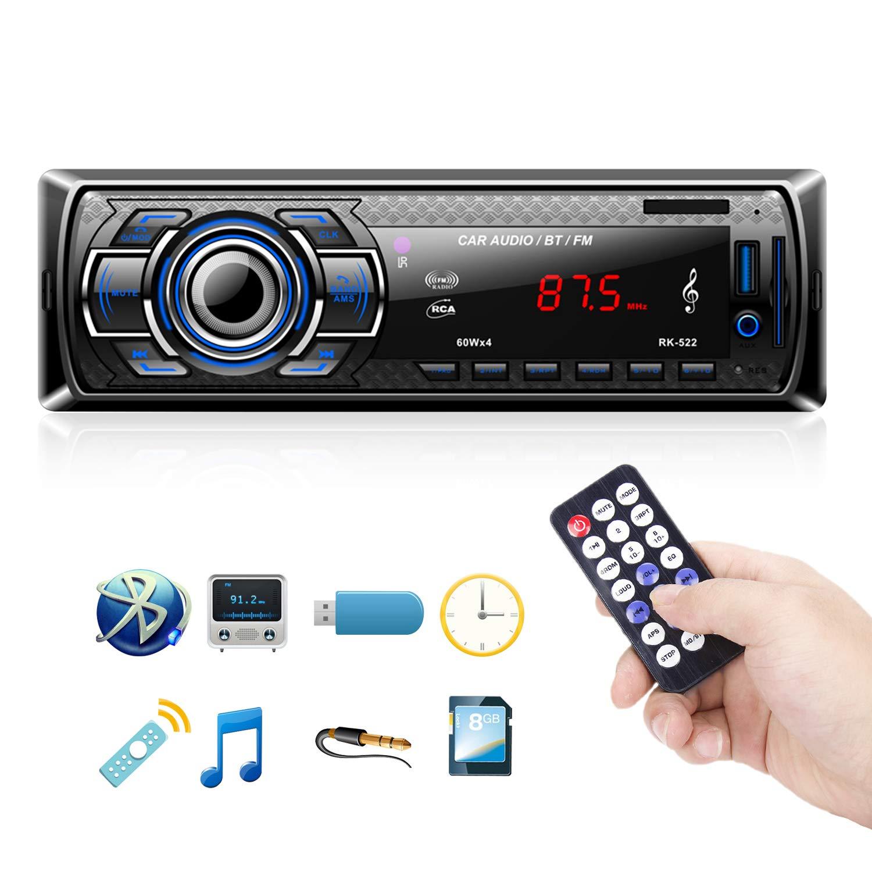 ... Automóvil Receptor de Audio/Radio Manos Libres MP4 / SD Car Stereo Soporte USB Tarjeta SD Entrada AUX Control Remoto Inalámbrico: Amazon.es: Electrónica