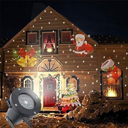 Christmas Projector Light Outdoor Indoor Rotating Projector ...