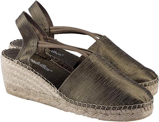 2 Espadrilles - Alpargatas Sandalias Mujer Fabricadas a Mano en España Espadrilles Esparto Zapato para Mujer Tacón Isabel: Amazon.es: Zapatos y complementos