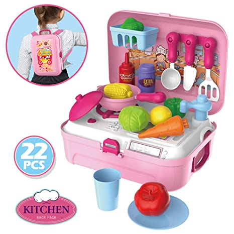 Amazon Com Candice S Sweety 24 Piece Pretend Play Kitchen Toys