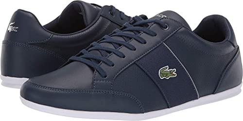 Lacoste Chaymon 219 White Green Leather Mens Trainers Shoes
