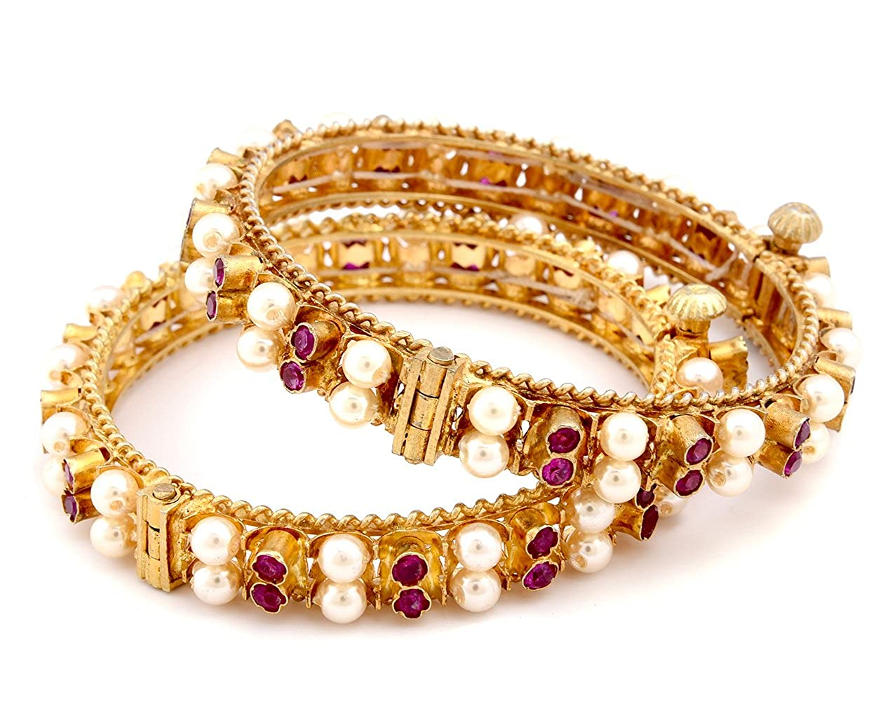8b466b3d1c Moti Tode Jod | Pearl Bangles | Artificial Jewellery: Amazon.in: Jewellery
