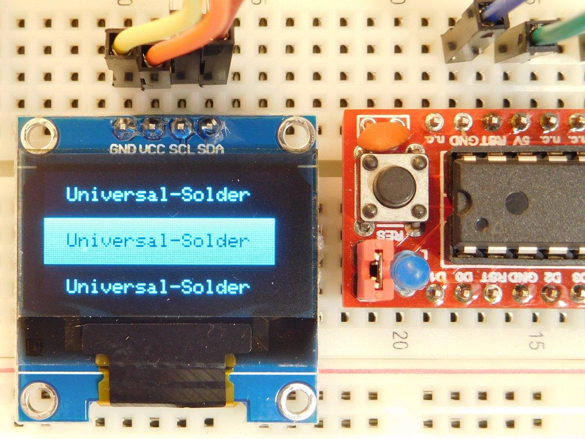 OLED Display 128x64 Pixel 0 96 inch - I2C Bus - for Arduino STM32 NodeMCU  ESP32