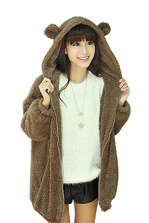 Veste oreille ours femme