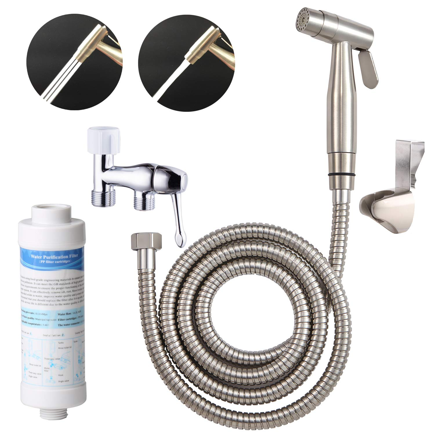 Home Improvement All Copper Handheld Shower Head Multi-function Pressurized Spray Gun Cylindrical Portable Small Nozzle Bringing More Convenience To The People In Their Daily Life Shower Equipment