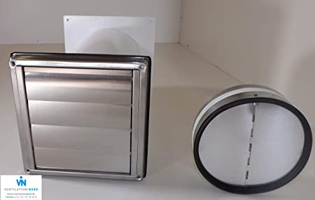 Conducto de pared para extractor NW150, acero inoxidable, tubo antirretorno telescópico MKWSQLE150BDS: Amazon.es: Hogar