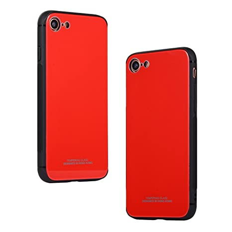 custodia in silicone per iphone 8 / 7 - product red