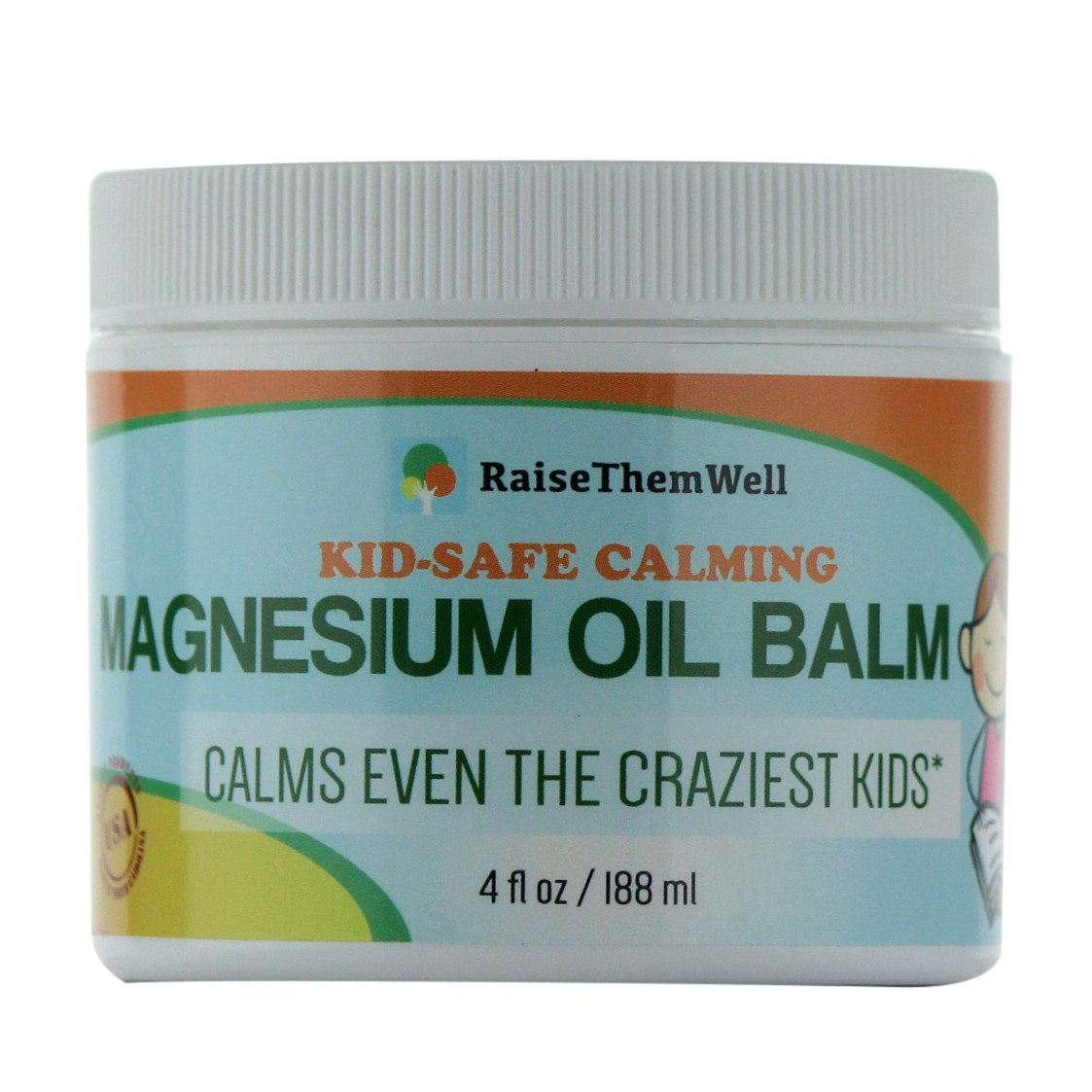 Kid-Safe Calming Magnesium Oil Balm. Formulated for Sensitive Skin. by Raise Them Well