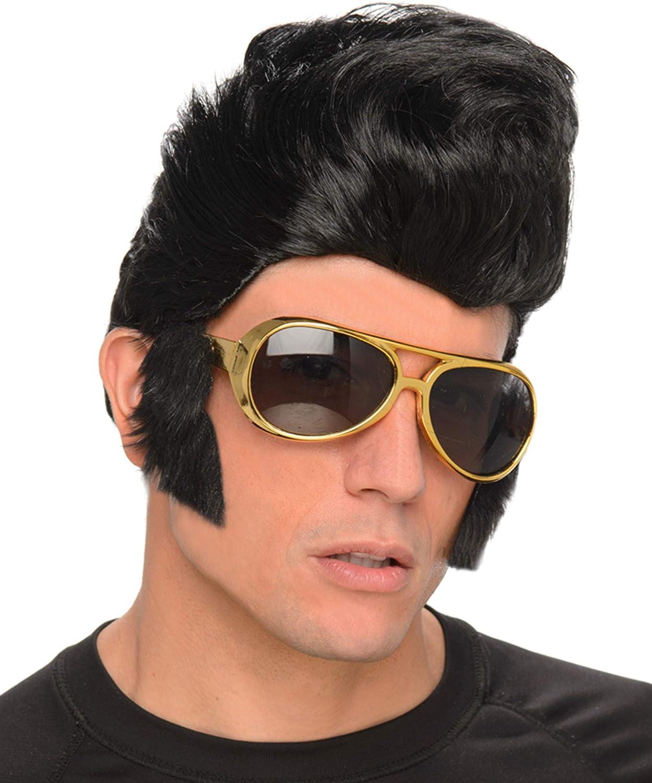 Generique - Peluca rockero Hombre con Gafas: Amazon.es: Juguetes y ...
