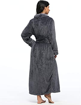 Kimono Luxurious Soft Plush Knit Terry Cloth ... LEINASEN Long Robes for Women