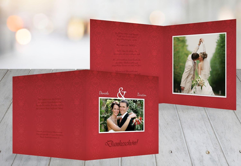 Kartenparadies Danksagung für Hochzeitsgeschenke Hochzeit Danke Eheversprechen, hochwertige Danksagungskarte Hochzeitsglückwünsche inklusive Umschläge   10 Karten - (Format  145x145 mm) Farbe  flamingoOrangerot B01N7URAGL   Good Design