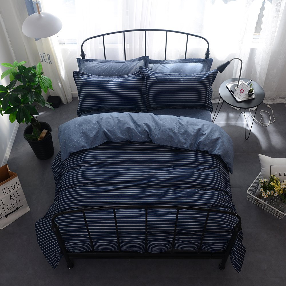 daloveツインQueenコットン寝具sets-3 Piece Kids大人羽毛布団カバーと枕のカバー、快適、耐久性、軽量、通気性 Twin(68