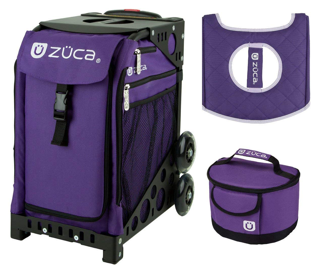 21b5f38a1f70 ZUCA Sport Bag - Rebel with Gift Lunchbox and Seat Cover (Black Frame)