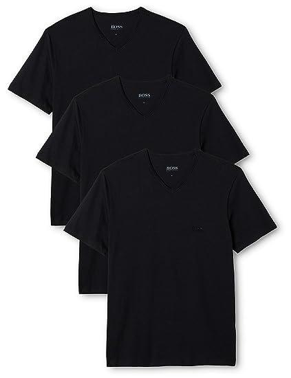 2da12ad1 BOSS Men's T-Shirt VN (Pack of 3) CO T-Shirt: Amazon.co.uk: Clothing