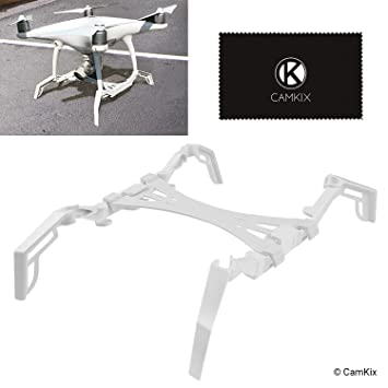 CamKix Landing Gear Extenders/Stabilizers and Gimbal Guard Protection Plate  compatible with DJI Phantom 4 Pro/Pro Plus/Advanced - Extra Stability,
