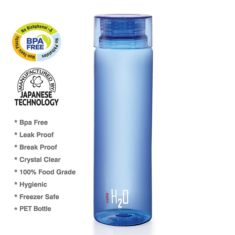 Cello H2O Unbreakable Plastic Bottle, 1 Litre