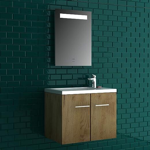 Set 50 x 33 cmWaschbecken+Unterschrank+Spiegel Alpenberger Komplett Badmöbel