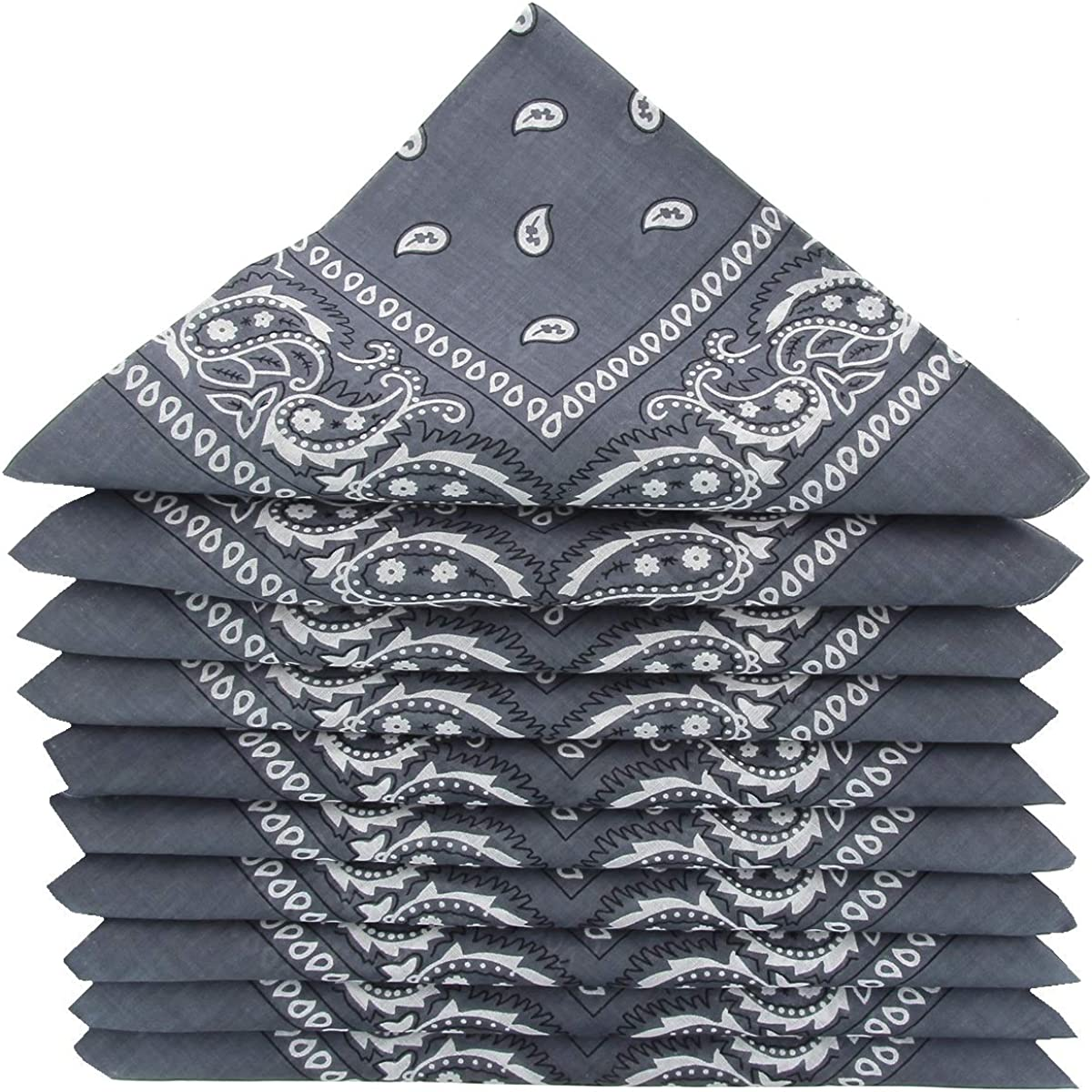 KARL LOVEN Pack of bandanas 100/% Cotton Paisley Neckerchief Head Neck Scarf Pack of 5//10//20
