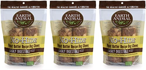Earth Animal 6 Pack of No-Hide Peanut Butter Dog Chew