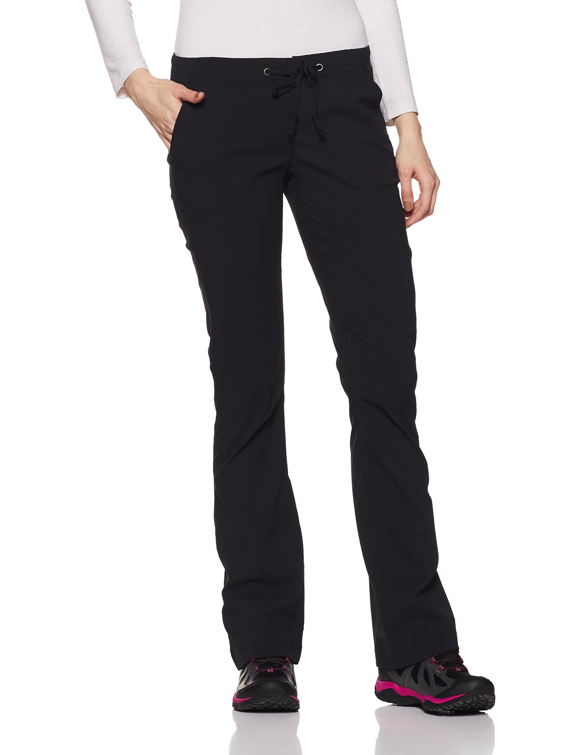 Columbia Women's Anytime Outdoor Boot Cut Pant, black, 8Regular