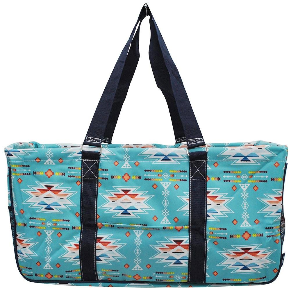 NGIL All Purpose Open Top 23'' Classic Extra Large Utility Tote Bag Spring 2018 Collection (Southern Aztec Serape)