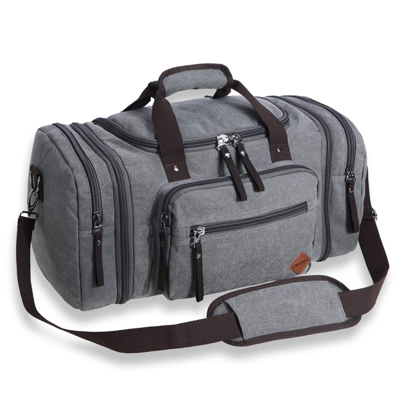5daf132680a6c VENTCY Canvas Reisetasche Herren Damen Weekender Sporttasche Männer Frauen  Gym Duffle Bag Vintage Handgepäck Tasche 40L