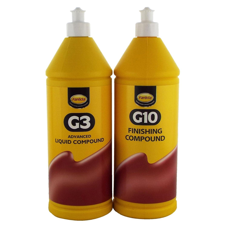Farecla G3 & G10 G3 1 Liter Advanced Compound Liquid G10 1 Liter Finishing Compound zu Dull Fahrzeug wieder Farbe Arbeiten und Entfernen Kratzer/Swirls von Fahrzeug funktioniert