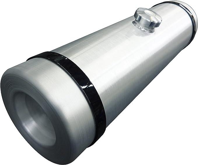 10x26 Center Fill Spun Aluminum Gas Tank Top 1//4 NPT Bung for Return or Vent