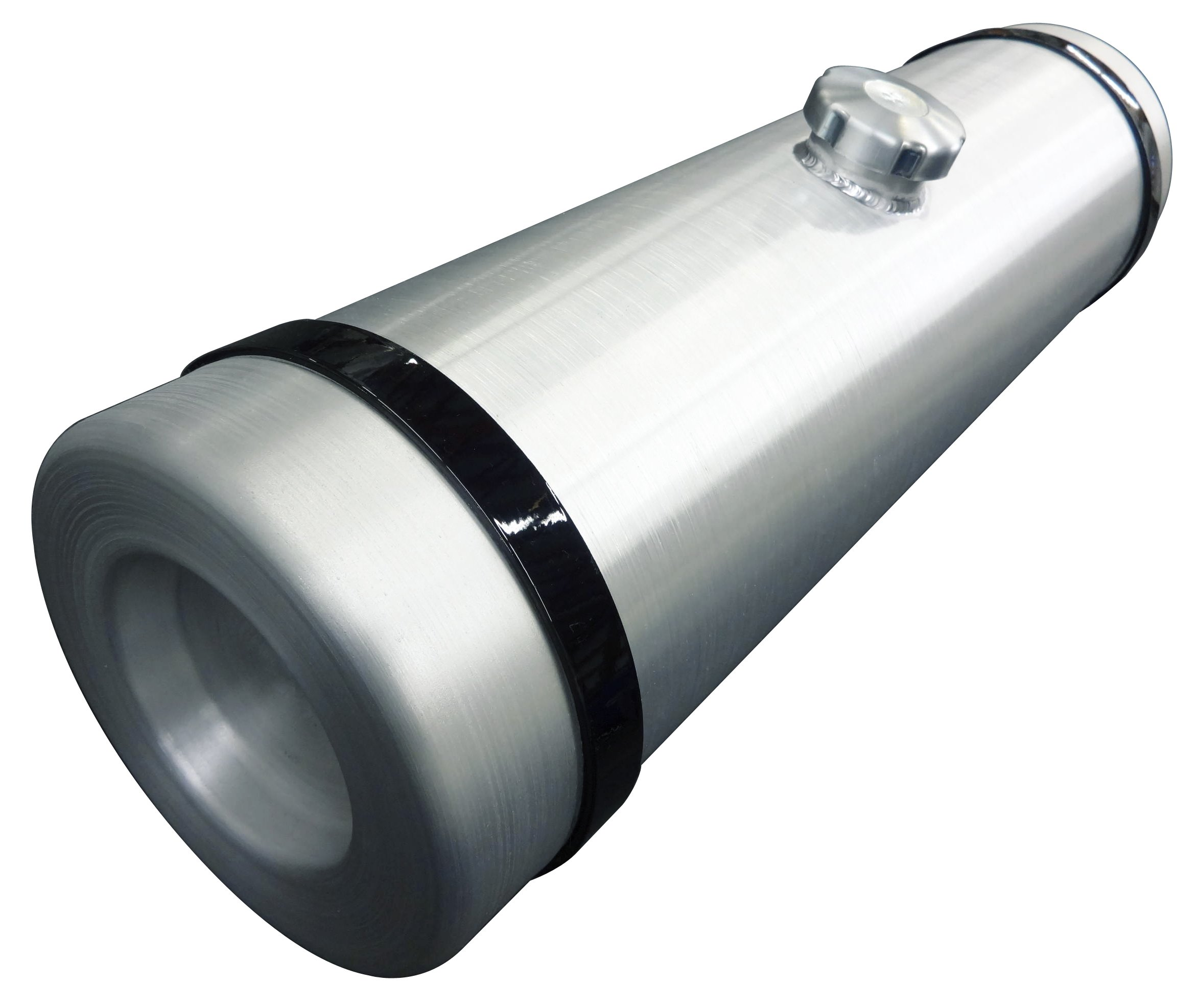 8x33 Center Fill Round Spun Aluminum Gas Tank - 7.25 Gallon - Baja Bug, Trike, Dune Buggy, Trike - 3/8 NPT - Made in the USA!