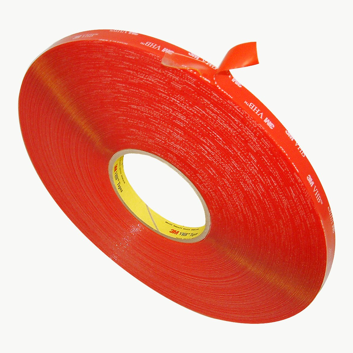 3M VHB 4905 General Purpose Acrylic Adhesive Tape, 20 mils thick, 72 yds Length x 1/2'' Width, Clear