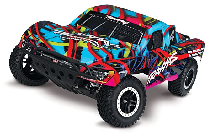 Traxxas Slash 1/10 Scale 2WD Short Course Racing Truck with TQ 2 4GHz Radio  System, Hawaiian