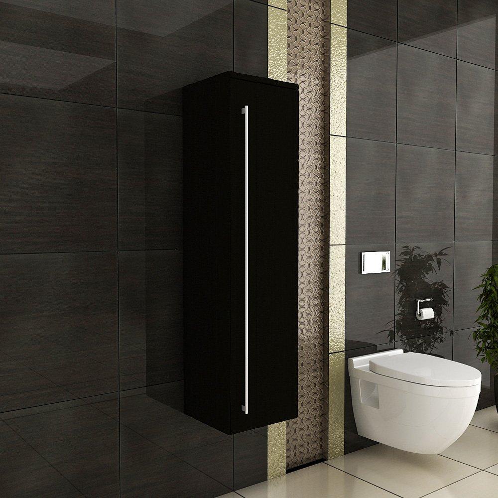 Badezimmermöbel schwarz  Wandschrank / Hochschrank / Hängeschrank / Badezimmermöbel ...