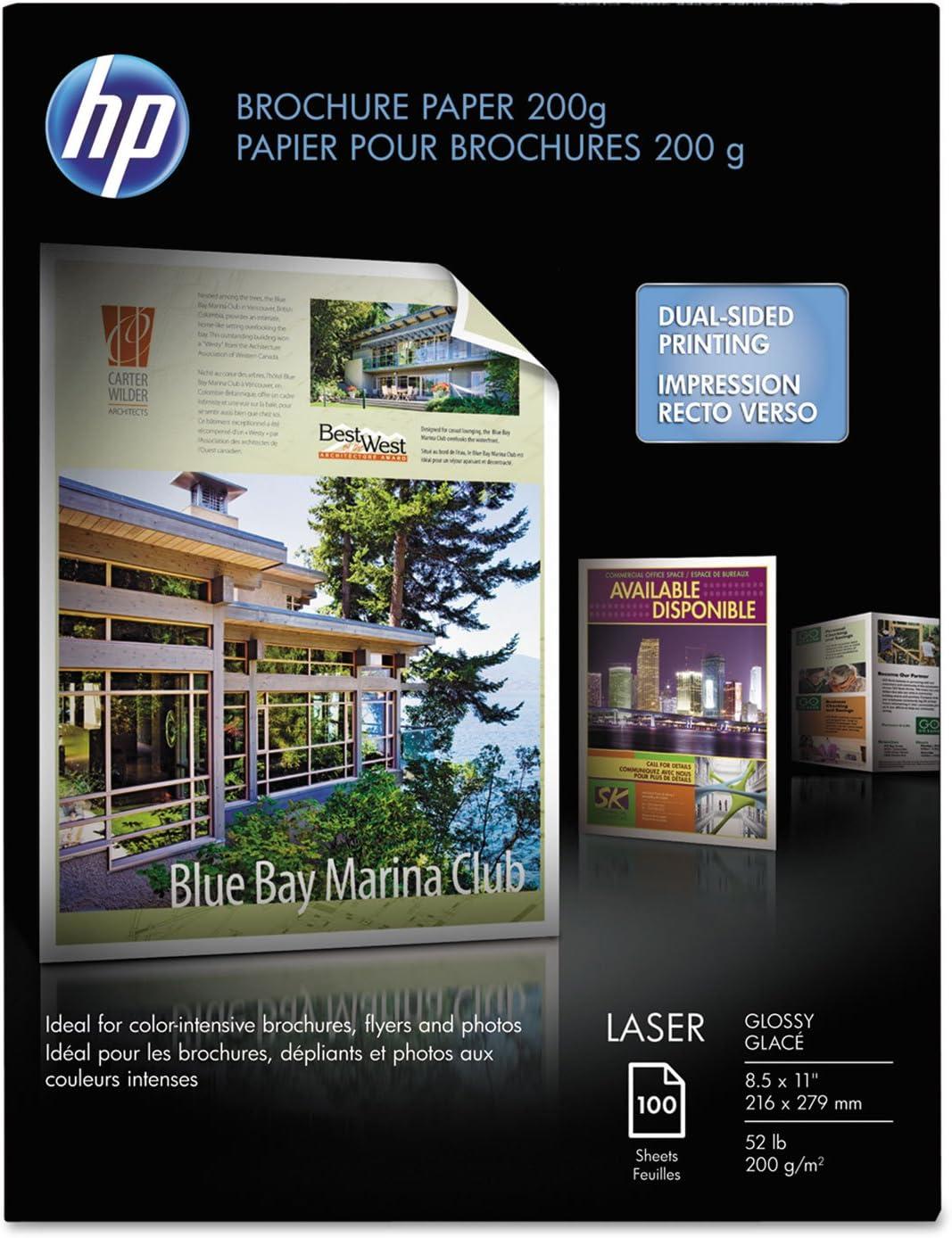 HP Q6608A Laser Brochure Paper,Glossy,58 No,97,8-1/2-Inch x11-Inch,100SH/PK,WE