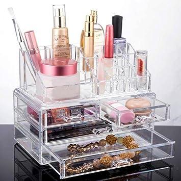 Amazoncom Makeup Cosmetics Jewelry Organizer Clear Acrylic 4