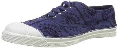 d8a70cf691540 Bensimon - F15004C249 - TENNIS LACET BRODERIE ANGLAISE - Baskets - Femme -  Bleu (Marine