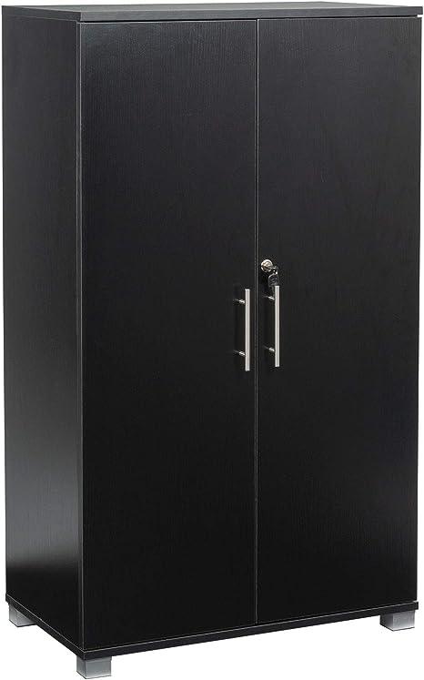 colore altezza 120 cm nero Armadietto da ufficio con 2 ante