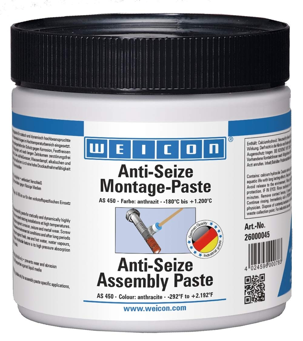 Weicon 26000045 Anti-Seize AS 450 Pâ te de montage 450 g