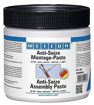 Wehrle 26000045 WEICON Pasta de Montaje Antideslizante 450 g, Resistente al Calor, protección contra la corrosión, Antracita, 450g: Amazon.es: Bricolaje y ...