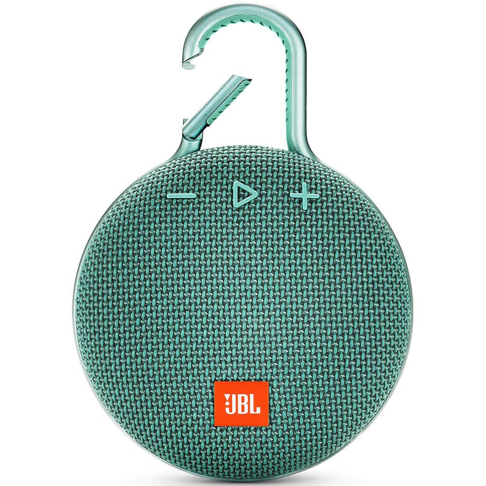 Black JBL Clip 3 Waterproof Portable Bluetooth Speaker