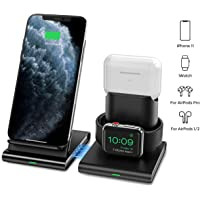 Seneo 3-In-1 Wireless Apple Watch & AirPods Pro/2 Charging Station (Black)