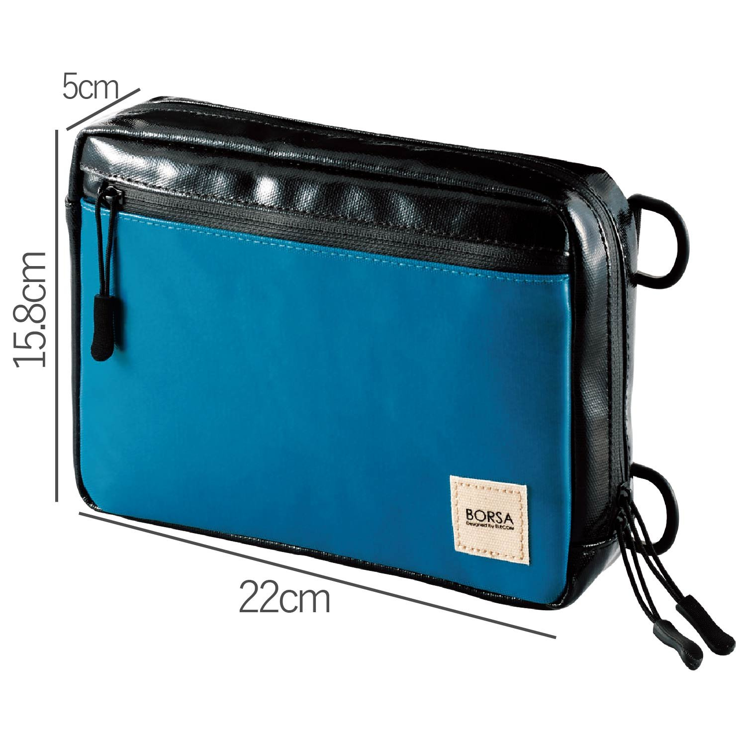 Elecom Bag in Bag Gadget Pouch with Waterproof Zipper Blue BMA-GP06BU